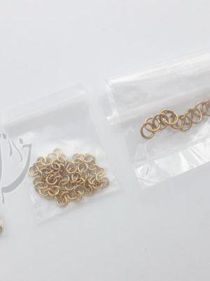حلقه اتصال زیورآلات استیل طلایی رنگ ثابت
