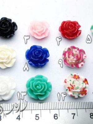 گل سرامیکی | گل دستبندی | گل رز نگین دارخرجکار دستبند و گردنبند | خرازی خاطره قم بدلیجات ارزان قیمت | لوازم ساخت زیورآلات | Making jewelry materials